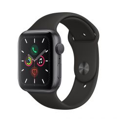 Watch 5 Original Apple GPS Space Grey Aluminium Case 40mm cu Black Sport Band