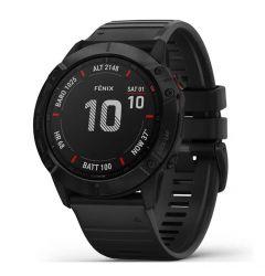 Smartwatch Garmin Fenix 6X Pro Slate Gray cu Black Band (51mm, wi-fi, glass)