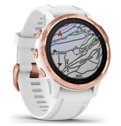 Smartwatch Garmin Fenix 6S Pro Rose Gold cu White Band (42mm, wi-fi, glass)