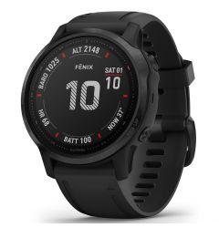 Smartwatch Garmin Fenix 6S Pro Black cu Black Band (42mm, wi-fi, glass)