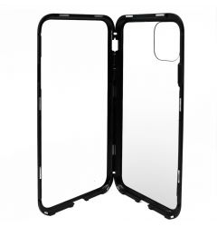 Carcasa iPhone 11 Pro Max Meleovo Magnetica Back Glass Black