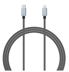 Cablu Type-C la Lightning MFI Lemontti Gri