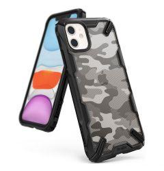 Husa iPhone 11 Ringke Fusion X Negru Camuflaj