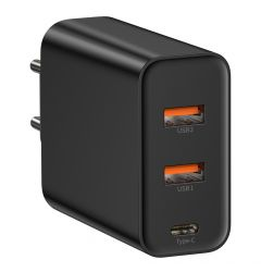 Incarcator Retea 3 Ports Baseus Speed PPS Quick Charger Black