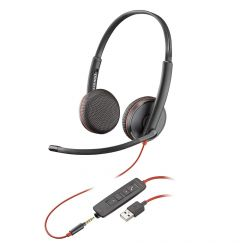 Casti USB sau Jack 3.5mm Plantronics Stereo BlackWire C3225