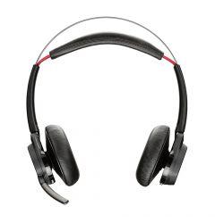 Casti Bluetooth Plantronics Voyager Focus UC BT B825 + Stand de Incarcare Desk