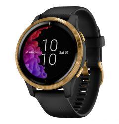 Smartwatch Garmin Venu Gold, Silicone Black