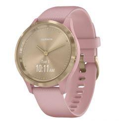Smartwatch Garmin Vivomove 3S Rose Gold, Silicone Pink (carcasa din otel)