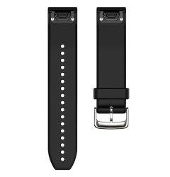 Curea 22mm Silicon Garmin QuickFit Black / Silver