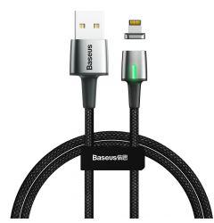 Cablu Lightning Baseus Zinc Magnetic USB Black