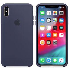 Husa Original iPhone XS Max Apple Silicon Midnight Blue resigilat