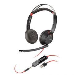Casti Call Center USB Plantronics Stereo BlackWire 5220, C5220