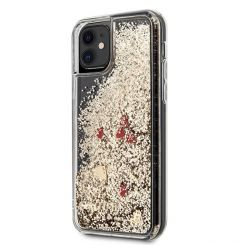 Husa iPhone 11 Guess Colectia Glitter Floating Hearts Rosu