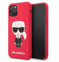 Husa iPhone 11 Pro Karl Lagerfeld Silicon Colectia Ikonik Rosu