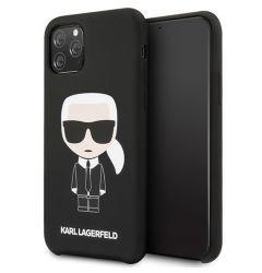 Husa iPhone 11 Pro Max Karl Lagerfeld Silicon Colectia Ikonik Negru