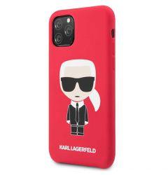 Husa iPhone 11 Pro Max Karl Lagerfeld Silicon Colectia Ikonik Rosu