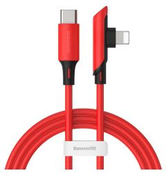 Cablu Type-C la Lightning Baseus Colourful Elbow Red