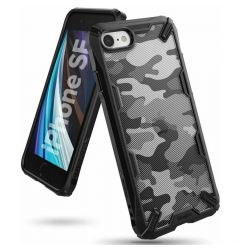 Husa iPhone SE 2020 / 8 / 7 Ringke Fusion X Negru Camuflaj
