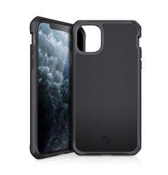 Husa iPhone 11 Pro Max IT Skins Hybrid Ballistic Black (antishock, compatibil cu incarcare wireless,