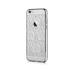 Carcasa iPhone 6/6S Devia Crystal Baroque Silver (Cristale Swarovski, electroplacat, protectie 360