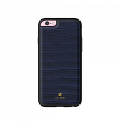 Carcasa iPhone 6/6S Just Must Croco Navy (protectie margine 360�)