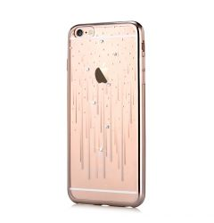 Husa iPhone 6 Plus Devia Silicon Meteor Champagne Gold (Cristale Swarovski�)