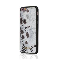 Carcasa iPhone 6/6S Occa Snake Gray (piele naturala, protectie margine 360)