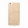 Carcasa iPhone 6/6S Just Must Chic Beige (cu buzunar)