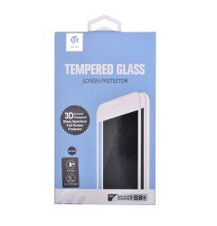 Folie Samsung Galaxy S8 Plus G955 Devia Sticla Temperata 3D Black (margini curbate)