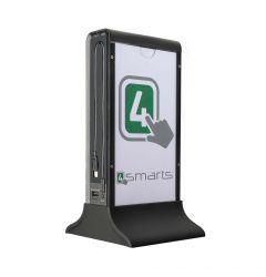 Acumulator extern 4smarts Bartender Black 20700 mAh (2x USB, cablu MicroUSB si Lightning integrat)