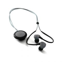 Casti Boompods Sportpods Race Dark Grey (in-ear, bluetooth, clip-on remote control, sweat resistant)