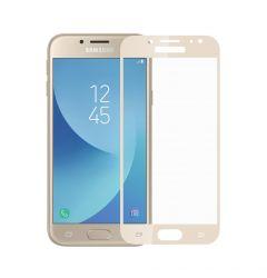 Folie Samsung Galaxy J7 (2017) Meleovo Sticla Full Cover Gold