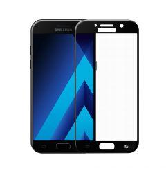 Folie Samsung Galaxy A5 (2017) Meleovo Sticla 3D Defense Curved Black (3D, 9H, oleophobic)