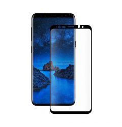 Folie Samsung Galaxy S9 Plus G965 Eiger Sticla 3D Case Friendly Clear Black (0.33mm, 9H, curved, ole