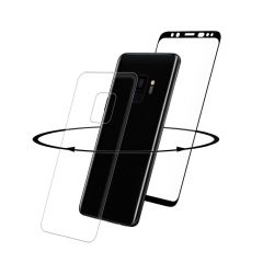 Folie Samsung Galaxy S9 G960 Eiger Sticla 3D 360 Clear Black