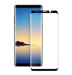 Folie Samsung Galaxy Note 9 Eiger Sticla 3D Case Friendly Clear Black (0.33mm, 9H, curved, oleophobi