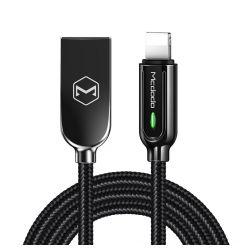 Cablu Lightning Mcdodo Auto Disconnect Black (1.2m, max 2A, led indicator)