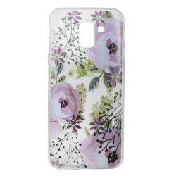 Husa Samsung Galaxy J6 (2018) Lemontti Silicon Art Flowers