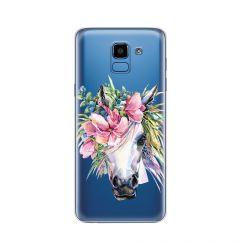 Husa Samsung Galaxy J6 (2018) Lemontti Silicon Art Watercolor Unicorn