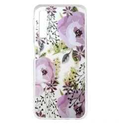 Husa Samsung Galaxy A7 (2018) Lemontti Silicon Art Flowers