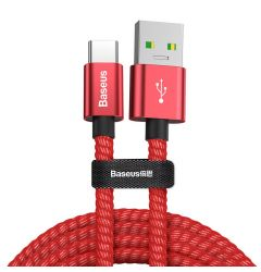 Cablu Type-C Baseus Double Fast Charging Red
