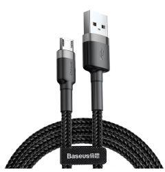Cablu MicroUSB Baseus Cafule Series Gray & Black