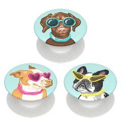 Suport Popsockets PopMinis Stand Adeziv Posh Pups (contine 3 mini accesorii)