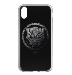 Husa iPhone X Marvel Silicon Black Panther 013 Black