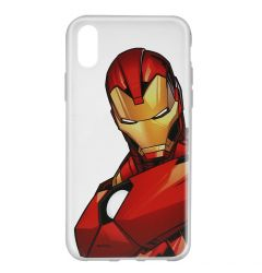 Husa iPhone X Marvel Silicon Iron Man 005 Clear