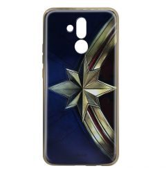 Husa Huawei Mate 20 Lite Marvel Silicon Captain Marvel 001 Gold