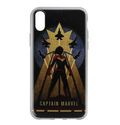 Husa iPhone X Marvel Silicon Captain Marvel 002 Navy Blue