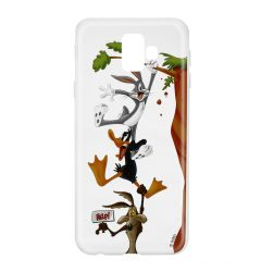 Husa Samsung Galaxy J6 Plus Looney Tunes Silicon Looney Tunes 005 Clear