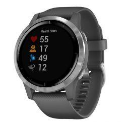 Smartwatch Garmin Vivoactive 4 Silver, Silicone Shadow Gray