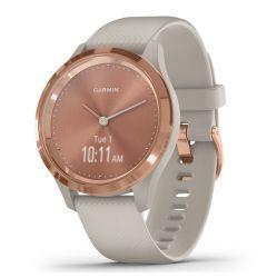 Smartwatch Garmin Vivomove 3S Gold, Silicone Light Sand (carcasa din otel)